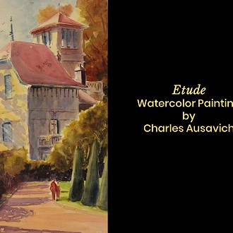 "Plymouth Arts Center: Second Place: ""Etude"" Watercolor by Charles Ausavich"