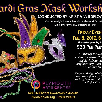 Create you own Mardi Gras Mask for the Party!