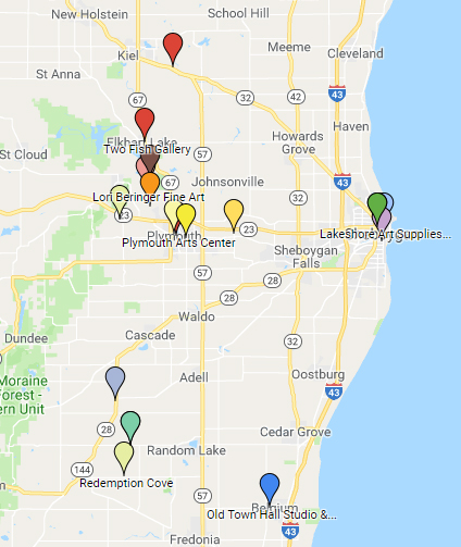 2019 Spring Art Tour Map