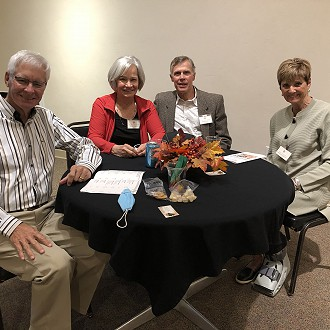 Plymouth Arts Center: Sponsors Barb & Conrad Barrows with WWS Artists Phyllis & Bob Hoopman