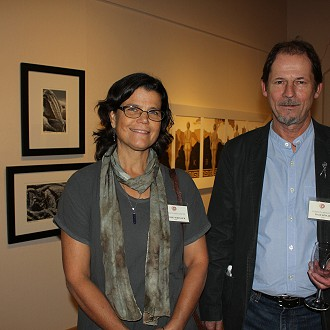 Artists Kathie Wheeler and Dale Knaak